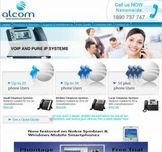 Alcom Telecom Galway Website Design