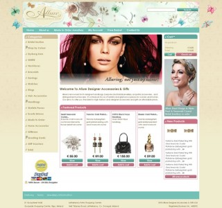 Allure Designer Sligo Ecommerce Website