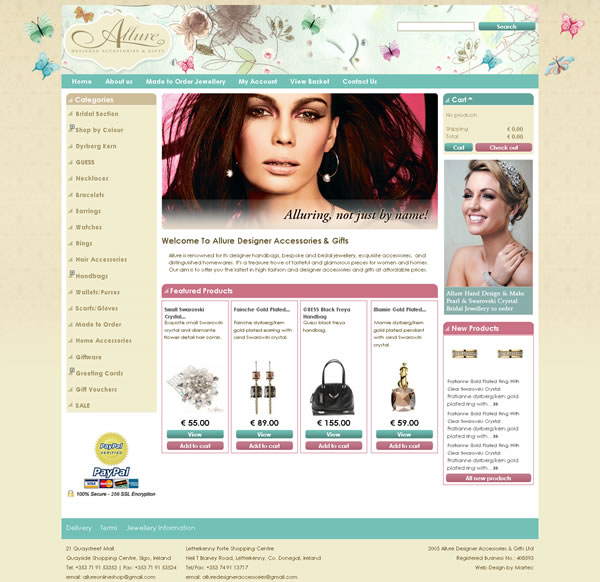 Project: Allure Designer Sligo Ecommerce Website Client: Allure Online Store ...