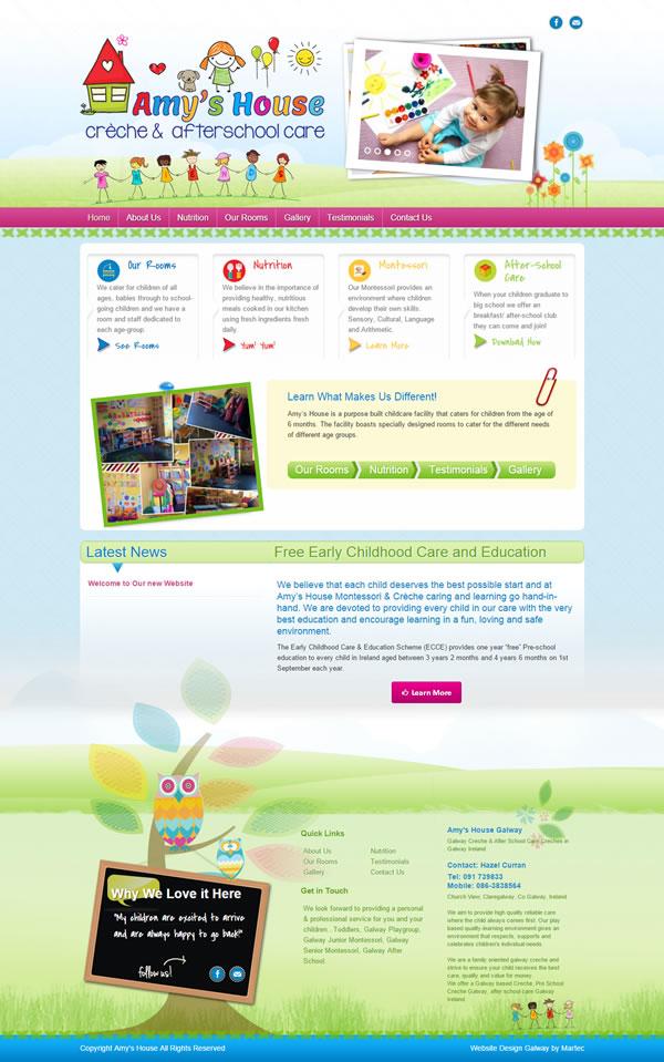 Amys House Galway Creche Logo & Website Design