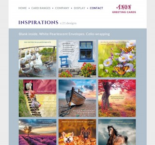Anon Greeting Cards – Website Design Ireland