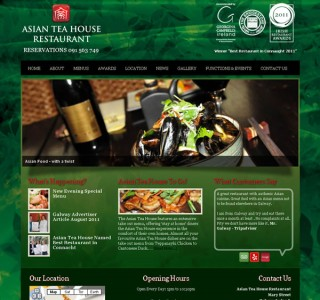 Asian Tea House Restaurant Website Design