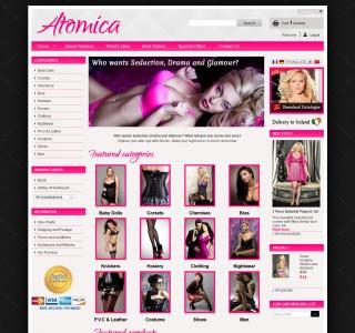 Atomica Homepage Design V1