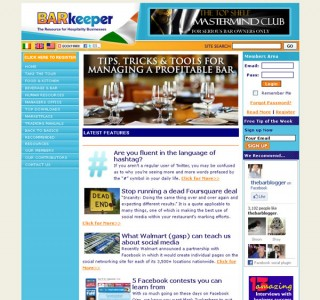 Barkeeper Hospitality Website