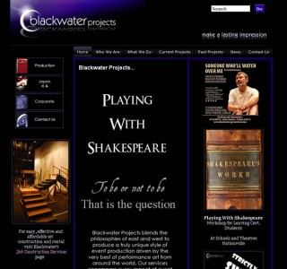 Blackwater Projects Logo and Website Design