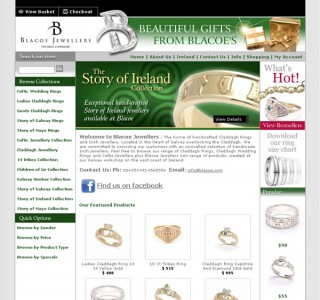 Blacoe Jewellers Ecommerce Website