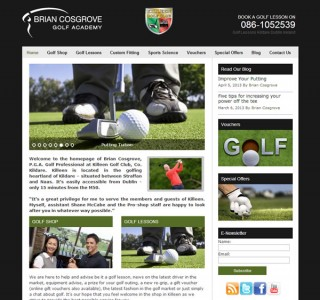 Brian Cosgrove Golf Professional Website Design Kildare Ireland
