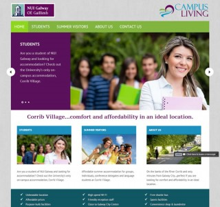 Campus Living Galway Logo &amp; Website Design