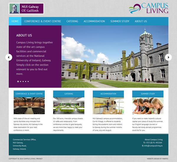 Campus Living NUI Galway Logo & Website