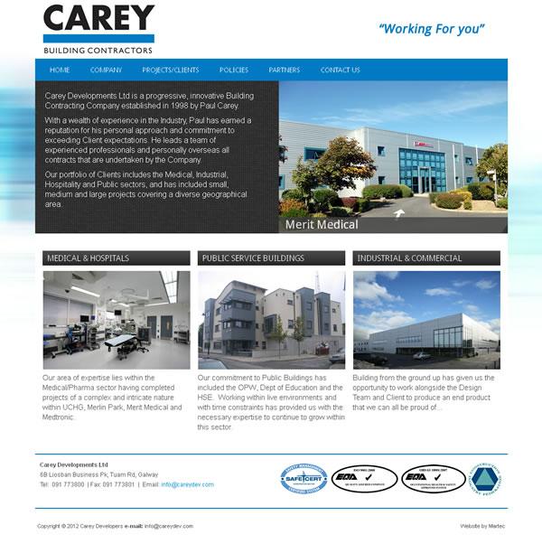 Carey Developments Galway Web Design