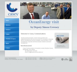 Casey Communications Cork Logo and Web Site Design