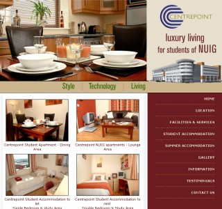 Centerpoint Galway Student Accommodation Website Design