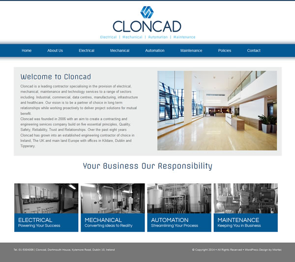 Cloncad Logo Design and Website Design Ireland