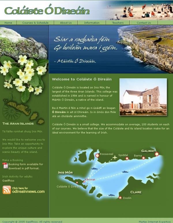Colaiste ODireain Language School Website