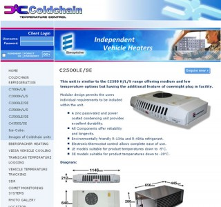 Coldchain Website Design