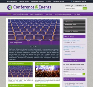 Conference &amp; Events Logo and Website Design