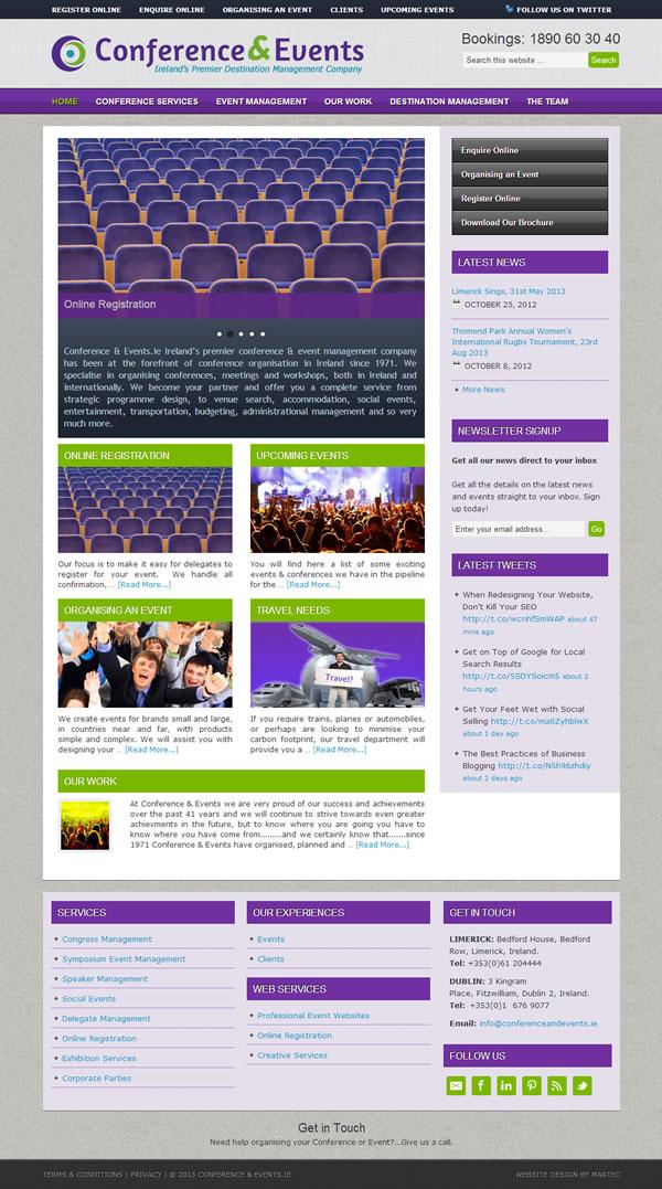 Conference & Events Logo and Website Design