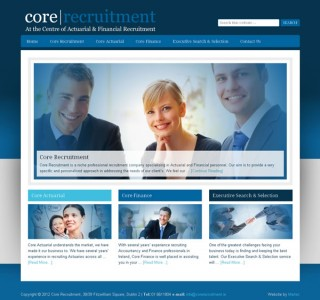 Core Recruitment Dublin Logo and Website Design