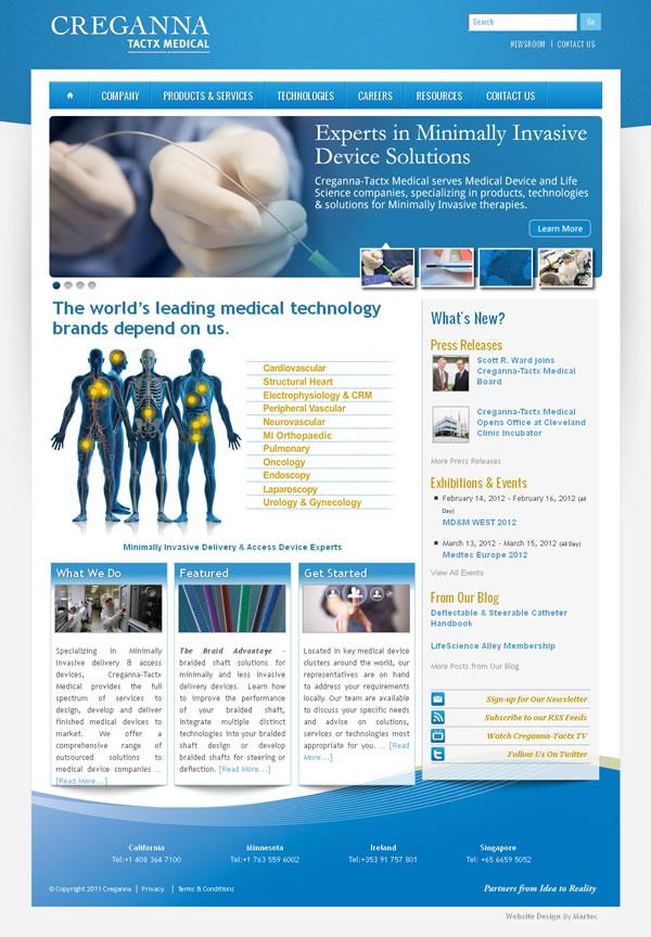 Creganna-Tactx Medical Galway Website Design