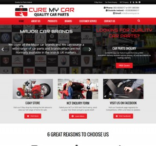 Cure My Care Galway Logo & Website Design