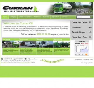 Curran Oil Meath Website Design