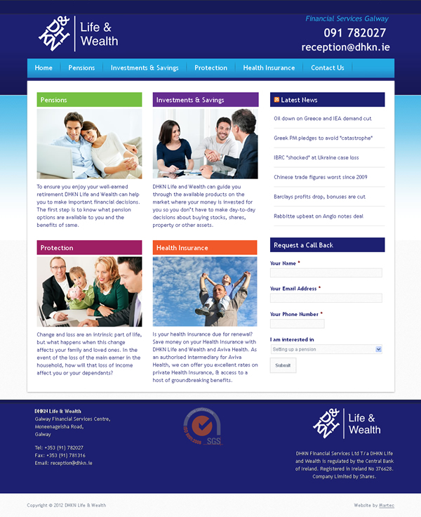 DHKN Financial Services Galway Website Design