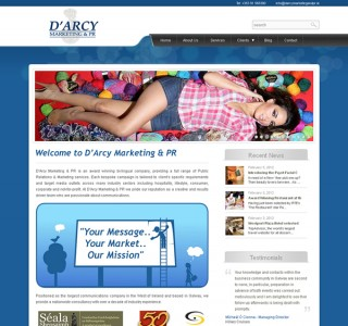 Darcy Marketing and PR Galway Web Design