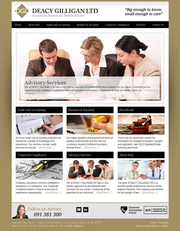 Deacy Gilligan Website Design Galway