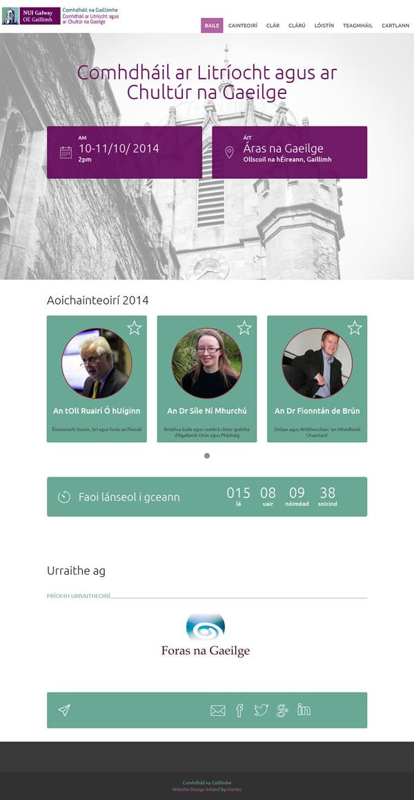 Department of Irish Logo & Conference Website Design