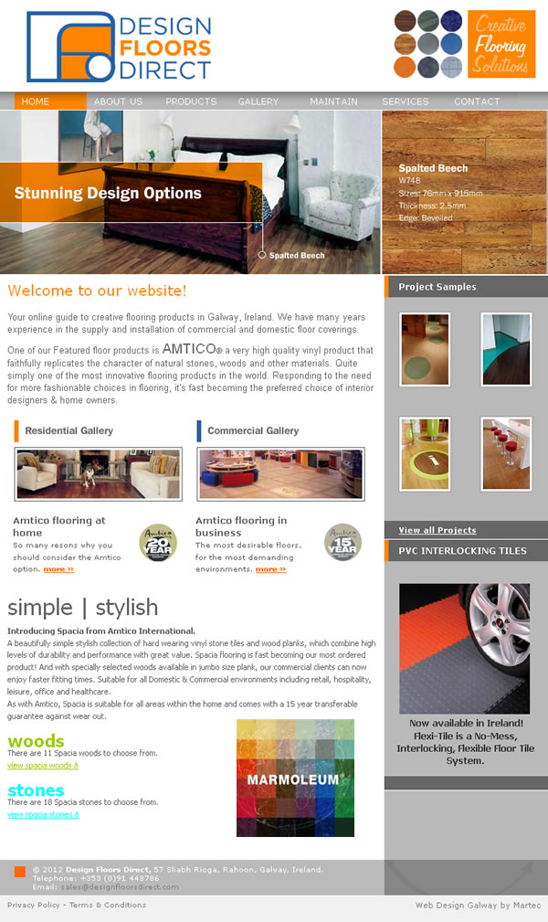 Design Floors Direct Galway Website