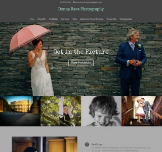 Donna Rave Photography Portfolio Website Design Ireland