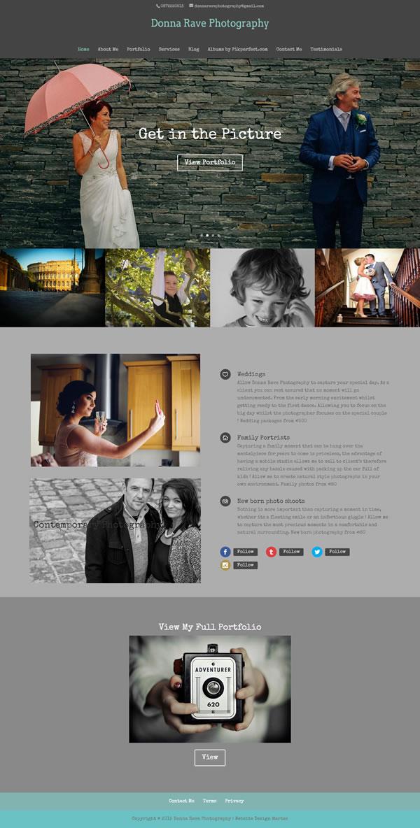 Donna Rave Photography Portfolio Website Design Ireland