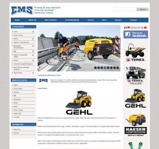 EMS Machinery Sales Ecommerce Website Design Ireland