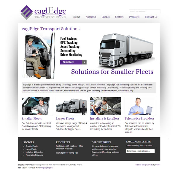 EaglEdge Transport Website Design Galway