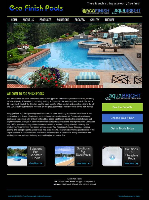 Eco Finish Pools Website Design Dublin