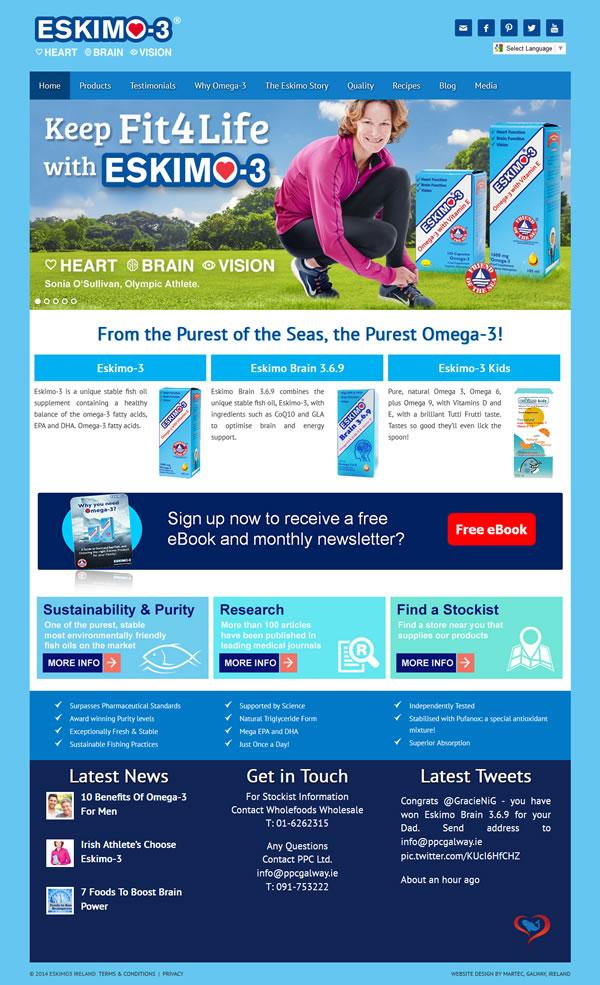 Eskimo 3 Fish Oils Website Design Ireland