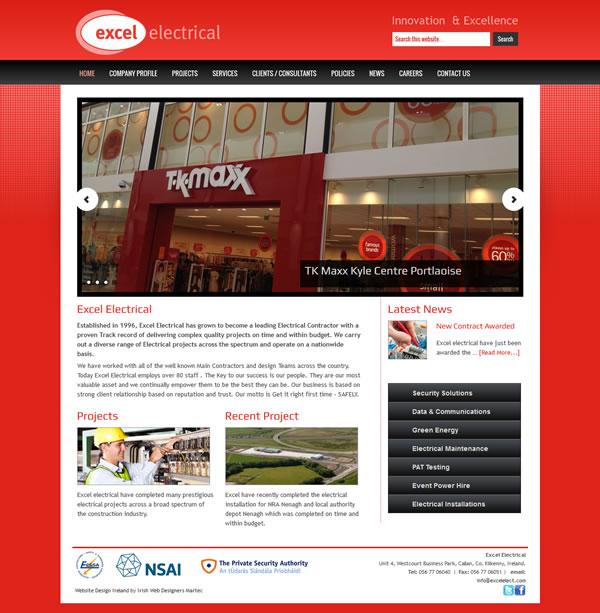 Excel Electrical Kilkenny Web Site Design