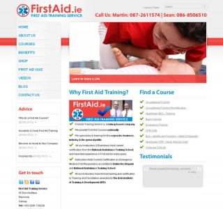 First aid Logo and website