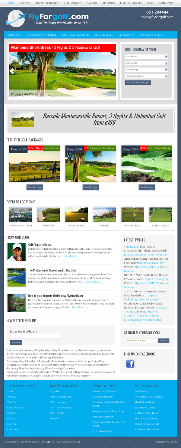 FlyforGolf Logo Design and Travel Website