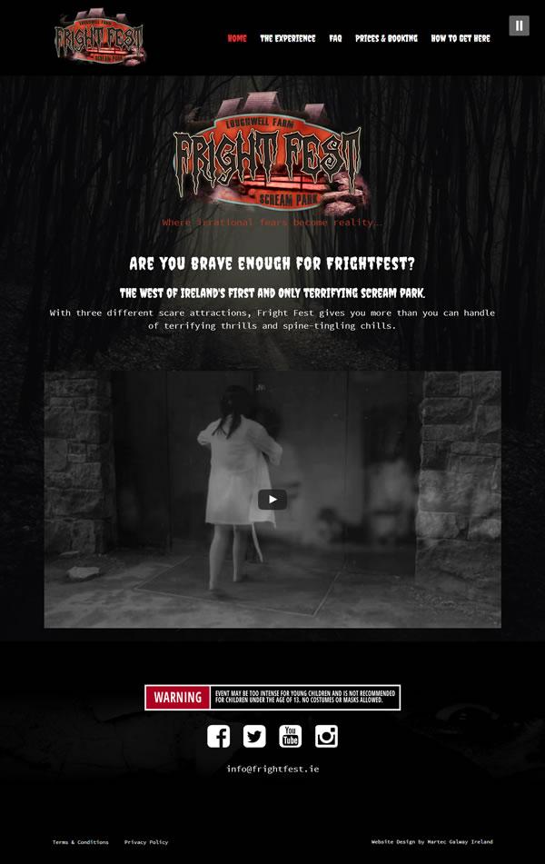 FrighFest Galway Web Design