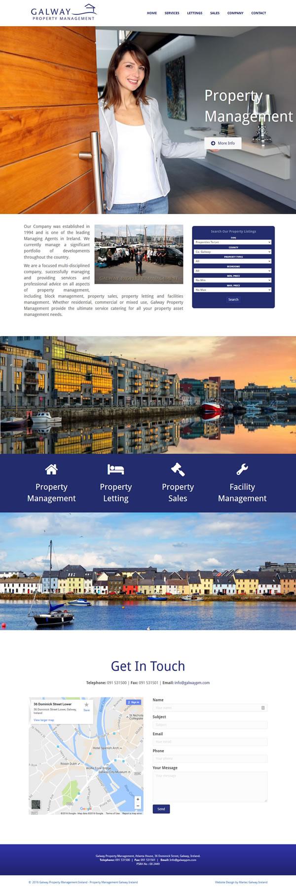 Galway Property Responsive Website Design