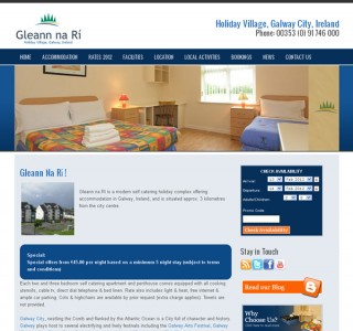 Glean na Ri Holiday Village Galway Website