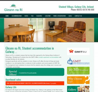 Glean na Ri Student Village Galway Website