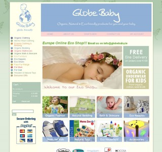 Globebaby Logo and Ecommerce Website Design