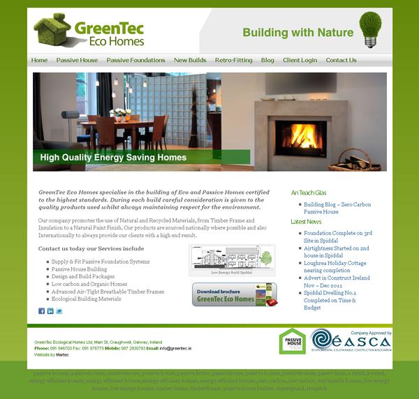 GreenTec Homes Galway Web Design
