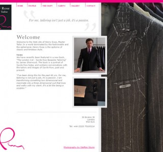 Henry Rose London Logo &amp; Website Design