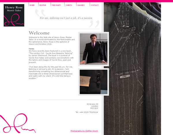 Henry Rose London Logo & Website Design