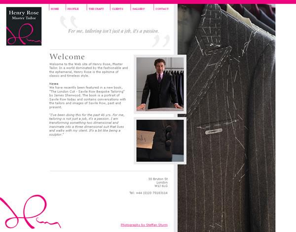 Henry Rose London Logo & Website Design