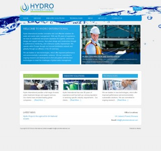 Hydro International Logo Design and Website