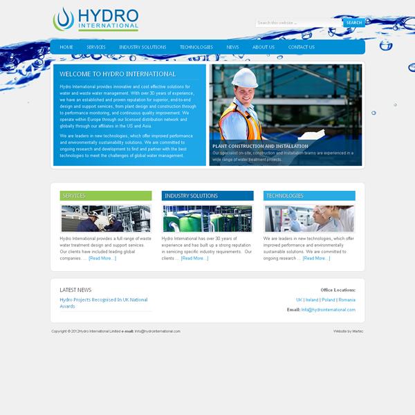 Hydro International Logo Design and Website